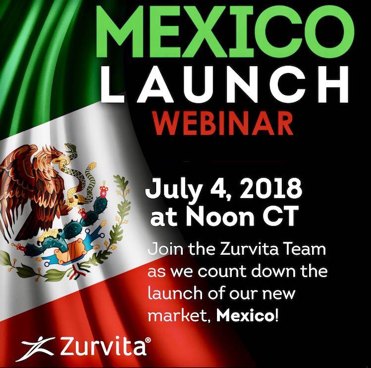 Zurvita Mexico Launch July 4 2018 Greg Wenzel Houston Texas Health and Wellness Nutrition