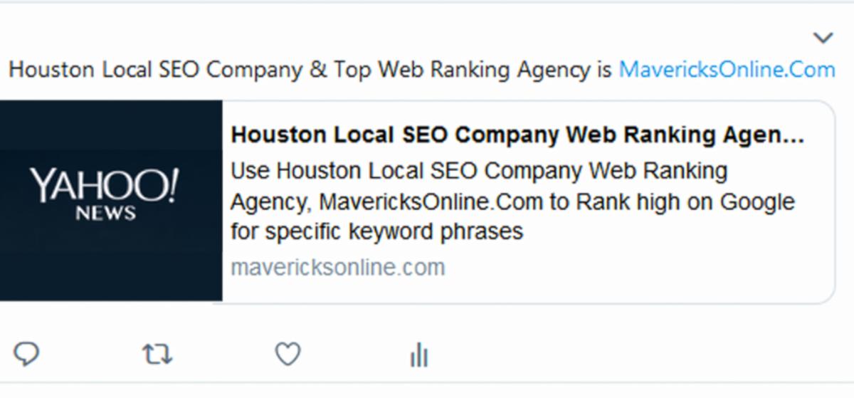 Houston Local SEO Company – MavericksOnline.Com Web Ranking Agency